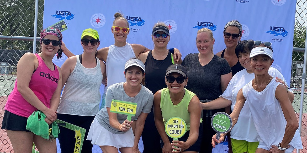 - Action photo from the 2018 USTA League National Championships Mixed 40 & Over 6.0-9.0 at the USTA National Campus in Orlando, Florida.