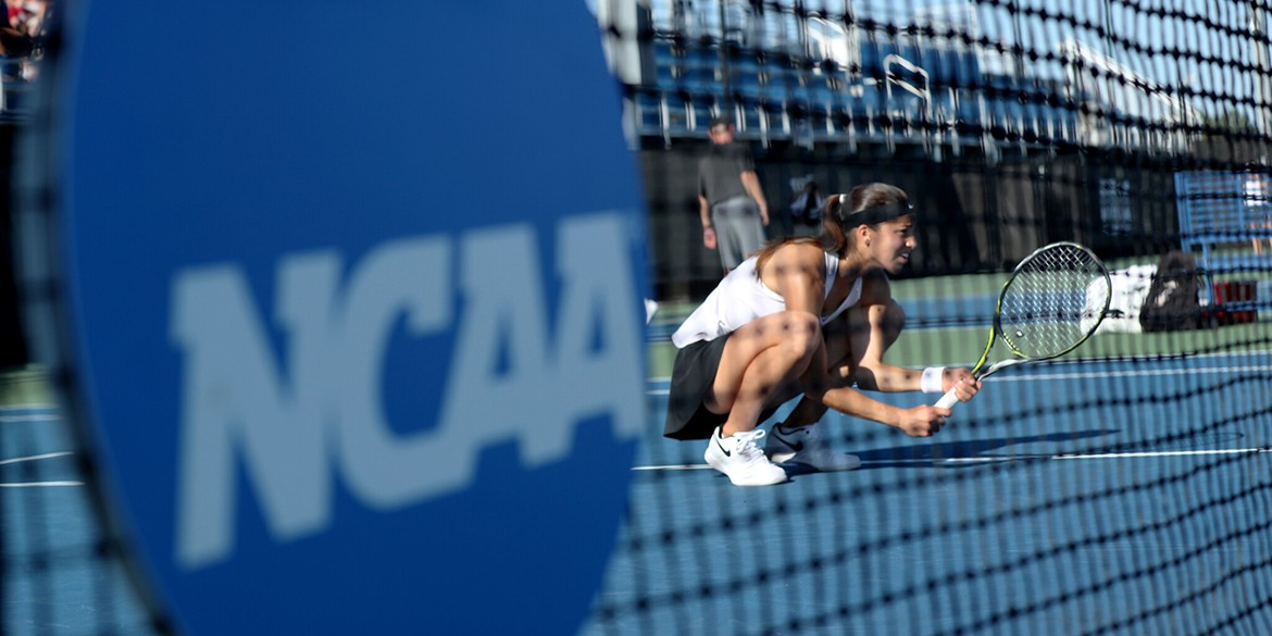 ORLANDO, FL - MAY 17: during the Women's quarterfinal doubles matches between the University of Georgia and Vanderbilt during the 2019 NCAA National Championships at the USTA National Campus in Orlando, Florida on May 17, 2019. (Photo by Joe Murphy/USTA)