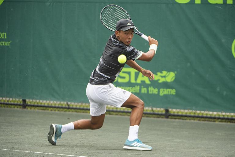 Bruno Kuzuhara, fotografiado aquí en el 2019  Orange Bowl, comenzará su 2021  Roland Garros el lunes.